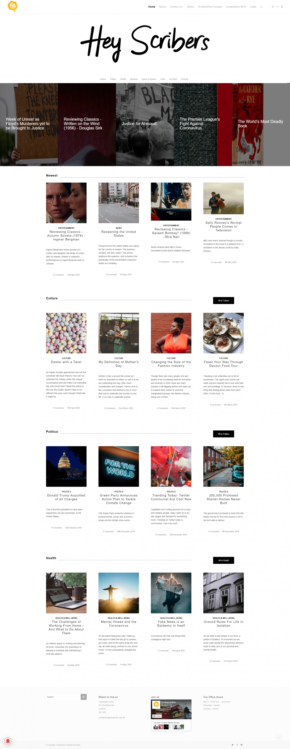 SCRIBERSHIVE - WEBSITE DESIGN & DEVELOPMENT